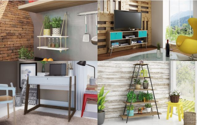 Suas coleções sempre seguem as tendências, você vai encontrar móveis que seguem desde o estilo escandinavo, até uma pegada mais industrial