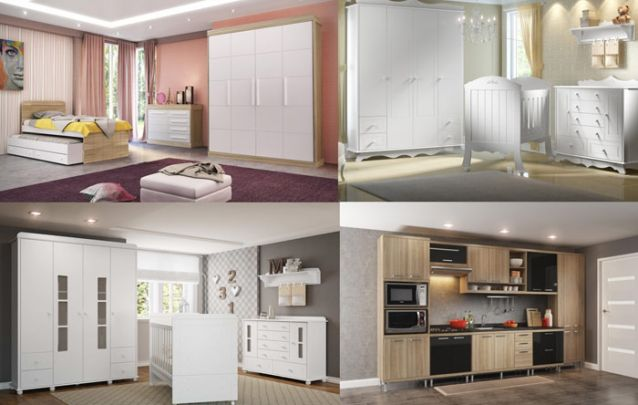 A empresa traz móveis com design contemporâneo, você irá encontrar desde modelos mais clássicos até peças com um padrão mais moderno