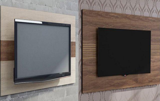 Caso você queira uma peça apenas para apoiar a TV, um painel minimalista sem muitos adornos é o ideal