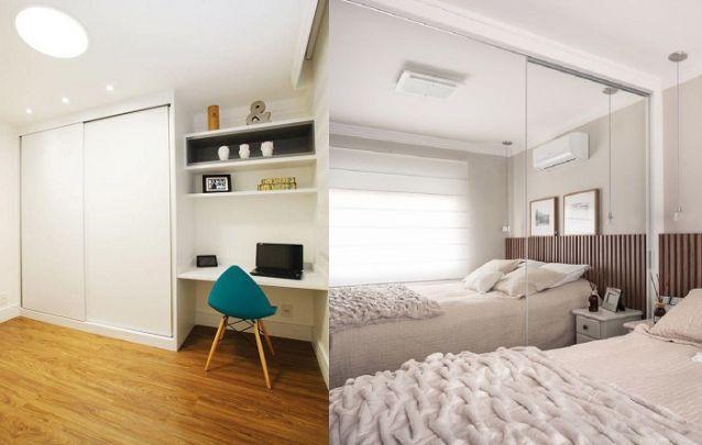 Porém se o seu quarto tiver um tamanho reduzido e a sua ideia for trazer amplitude ao cômodo, aposte em uma peça de cor clara