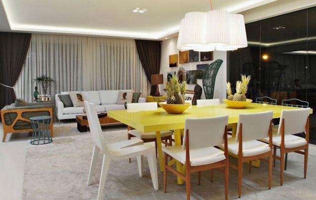 Tendências de decoração de sala de jantar para deixar o ambiente moderno Foto 10