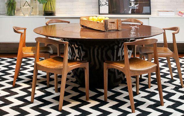 Tendências de decoração de sala de jantar para deixar o ambiente moderno Foto 14
