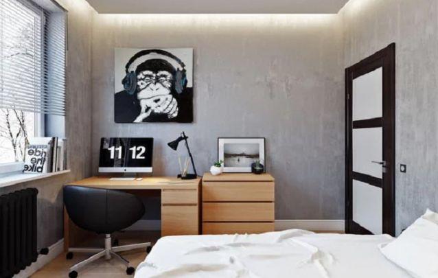 Uma linda decoração de quarto simples para adolescente