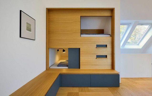 Se você quiser otimizar o seu espaço, pode apostar em quartos planejados para jovens
