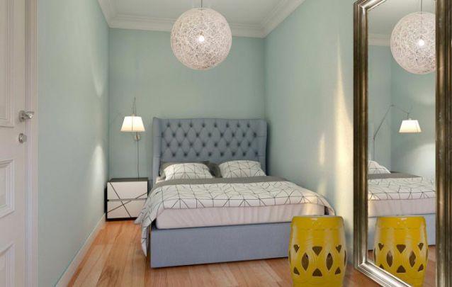 Um pequeno quarto para jovens simples porém elegante