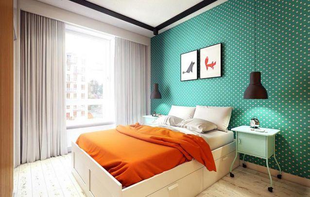 Uma opção de quarto para jovens simples e agradável