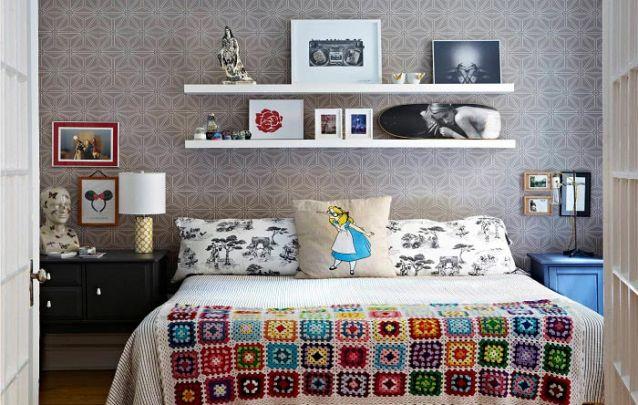 Vários elementos diferentes trazem a personalidade do adolescente para dentro do quarto