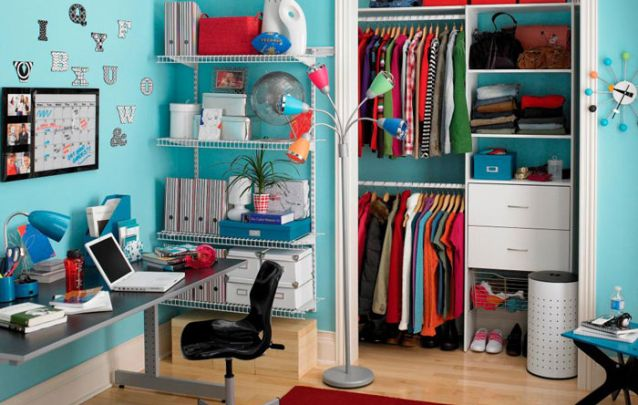 Que tal este quarto de adolescente de luxo com closet?
