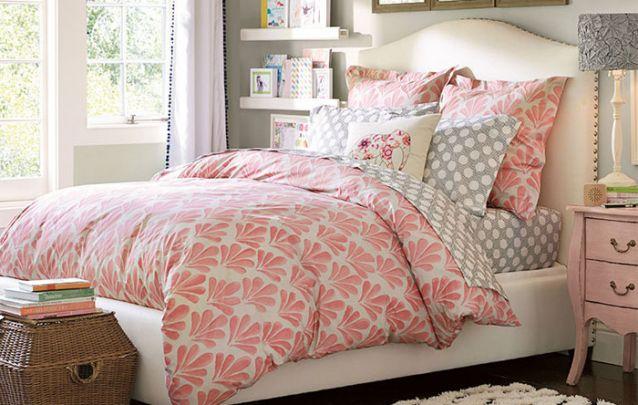 Mais uma opção delicada para um quarto de adolescente feminino e romântico