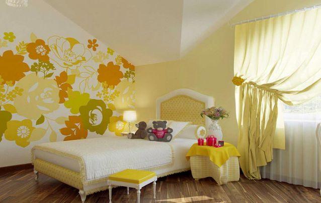 Amarelo também é uma boa opção para compor a decoração para quarto de menina
