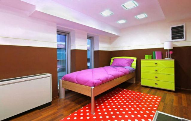 Contraste de cores foi a escolha para deixar este quarto de menina contemporâneo