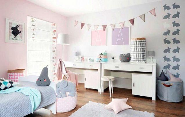 Um quarto de menina neutro e delicado