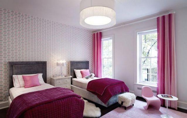 Uma decoração para quarto de menina elegante e feminino
