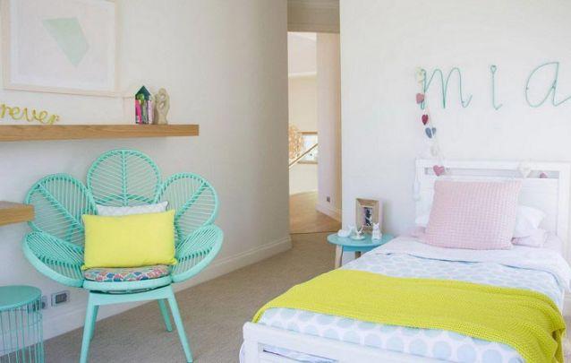 Menta é uma cor atual, remete a juventude, leveza e refrescância, uma ótima paleta para um quarto feminino