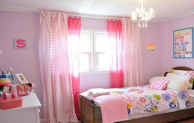 Lilás é um tom suave que combina muito bem com um quarto de menina