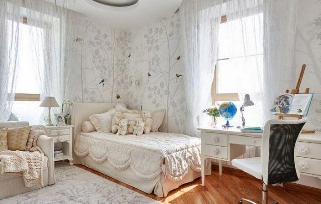 Decoração de quarto de menina neutro e delicado