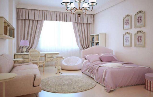 Aqui os móveis seguem um estilo provençal