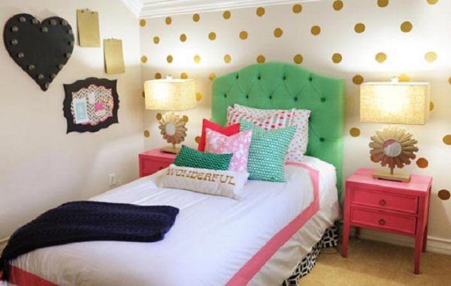 Um charmoso quarto de menina decorado