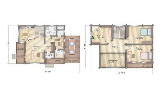 Uma opção com layout rústico dentre plantas de casas com 2 quartos