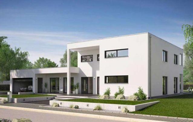 Que tal esta opção entre plantas de casas modernas? Possui dois andares, 4 quartos, 2 banheiros e um lavabo