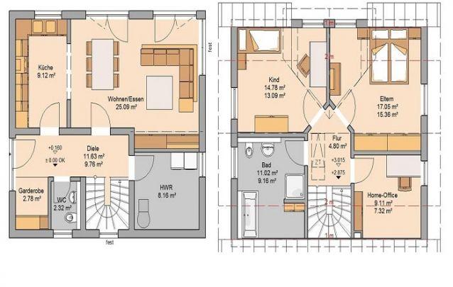 Esta é uma boa escolha entre plantas de casa 2 quartos