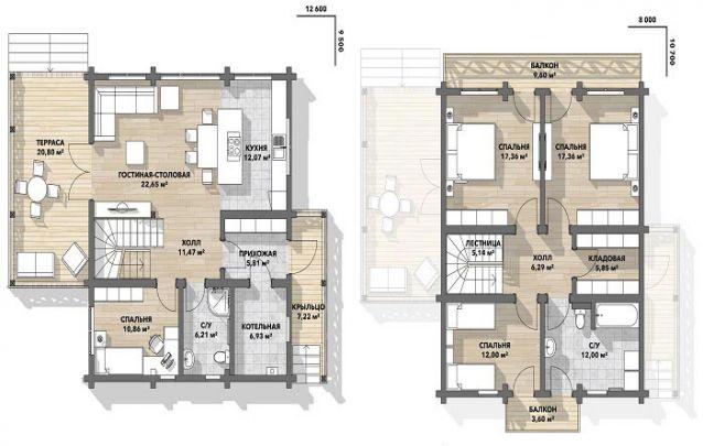Uma planta de casa perfeita para quem procura por uma cozinha americana e um conceito aberto no cômodo