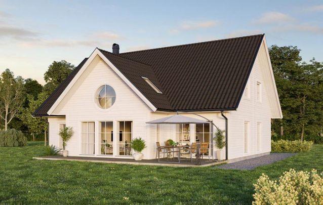 Planta de casa com dois andares e muito charme