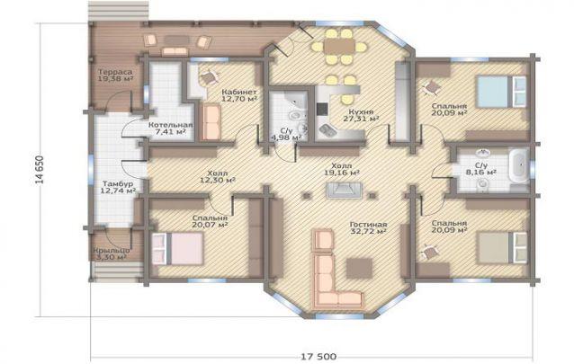 Mais uma planta casa 3 quartos para quem busca uma opção simples e funcional