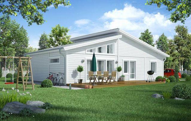 Uma alternativa entre plantas de casas com 3 quartos e cozinha americana