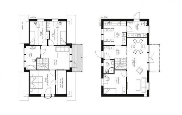 Mais uma opção para quem busca plantas de casas com 4 quartos