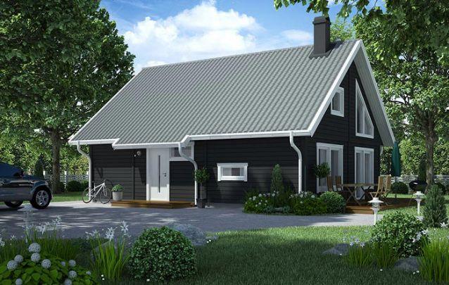 Está à procura de plantas de casas para construir? Esta é uma boa opção, com dois andares, possui 3 quartos e 2 banheiros