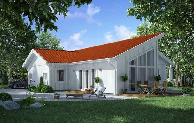Planta casa pequena com 1 suíte, 2 quartos e 1 banheiro
