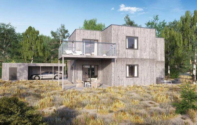 Uma opção moderna entre plantas de casas com 3 quartos