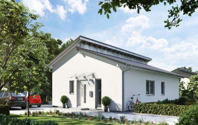 Este modelo é um belo exemplar de casas modernas pequenas
