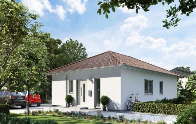 Uma opção de planta casa pequena, com apenas 1 suíte