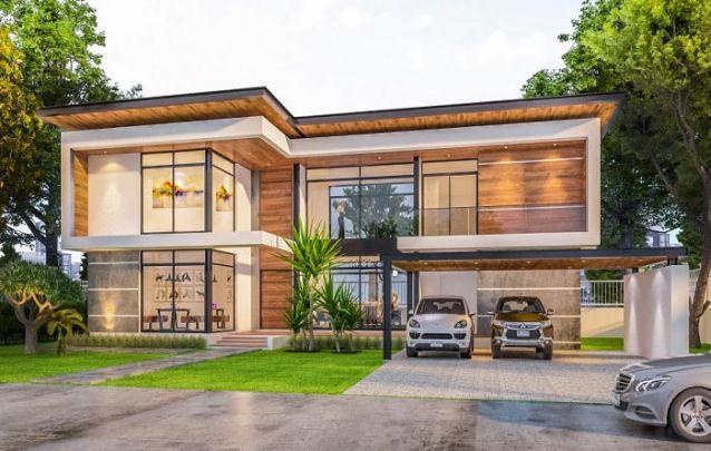 Plantas de casas mais de 100 lindos modelos para voc for Casa moderna l