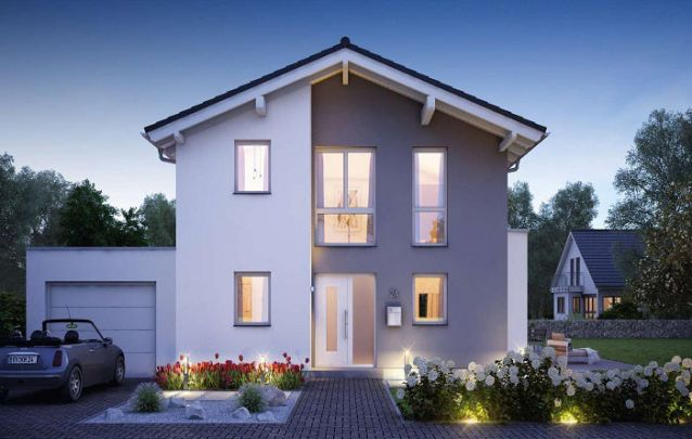 Outra opção de plantas de casas com 3 quartos e cozinha americana