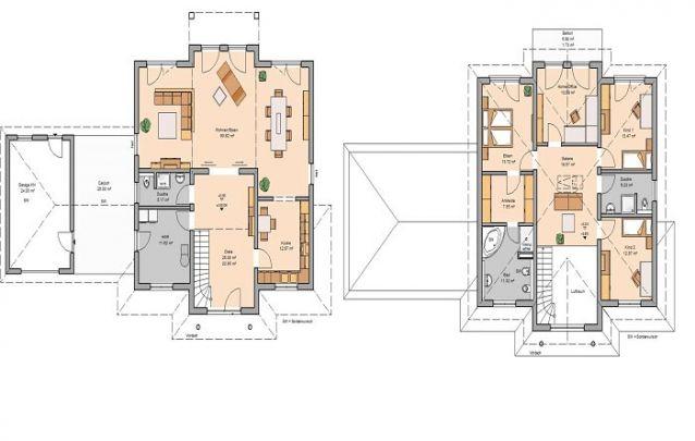 Uma planta de casa com 3 quartos, sendo uma suíte máster, aproveite para tirar algumas ideias