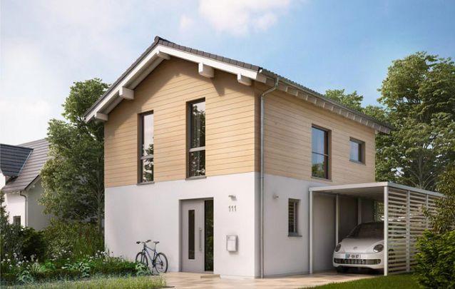 Planta de casa com dois andares, 2 quartos e 2 banheiros