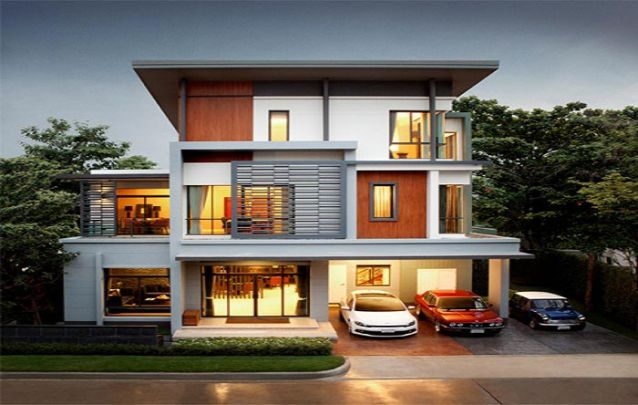 Que tal esta casa com 3 andares? Ótima opção para uma família grande, possui 5 suítes e dependência para empregada