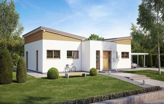 Uma opção entre diversos modelos de plantas de casas pequenas, aqui o layout é prático e contemporâneo