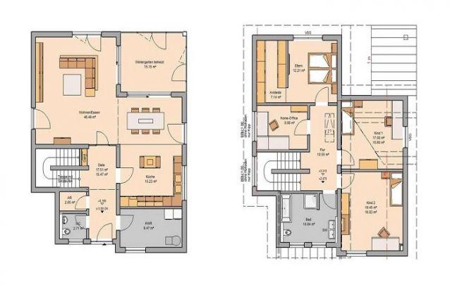 Esta casa também é uma boa opção entre plantas de casas modernas