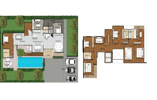 Uma planta de casa moderna e ampla, perfeita para famílias grandes