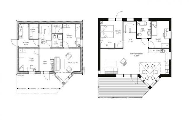 Plantas de casas com 4 quartos são ótimas para famílias grandes