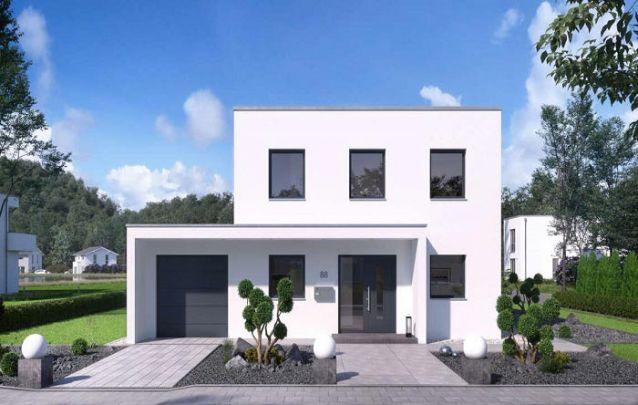 Planta de casa minimalista e contemporânea