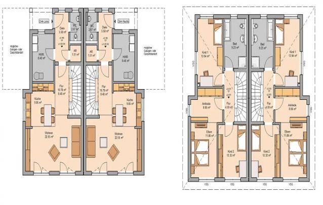 Uma opção para geminado com 3 quartos e 2 banheiros