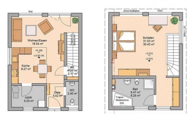 Este é um bom modelo entre casas pequenas e modernas para você se inspirar