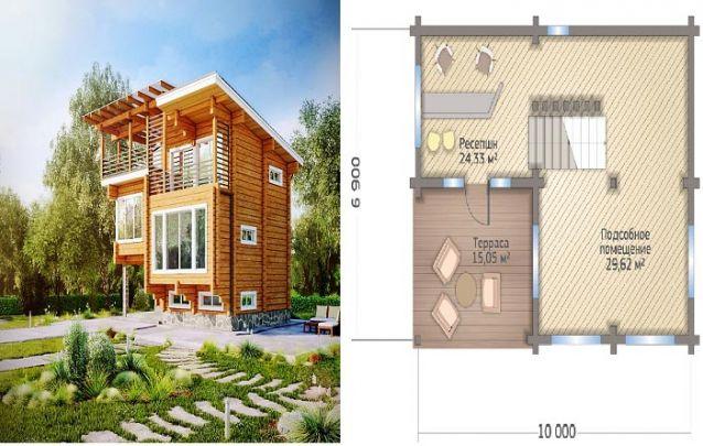 Mais um design contemporâneo dividido em três andares aconchegantes