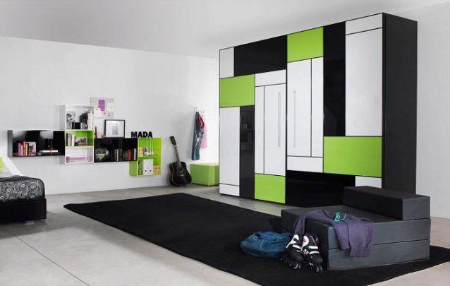 E para um quarto de adolescente, nada melhor que um guarda roupa planejado moderno e irreverente