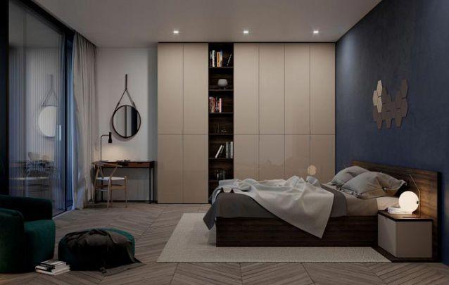 Esta opção conta com um nicho central sem portas, o qual é utilizado para acomodar alguns itens decorativos e livros